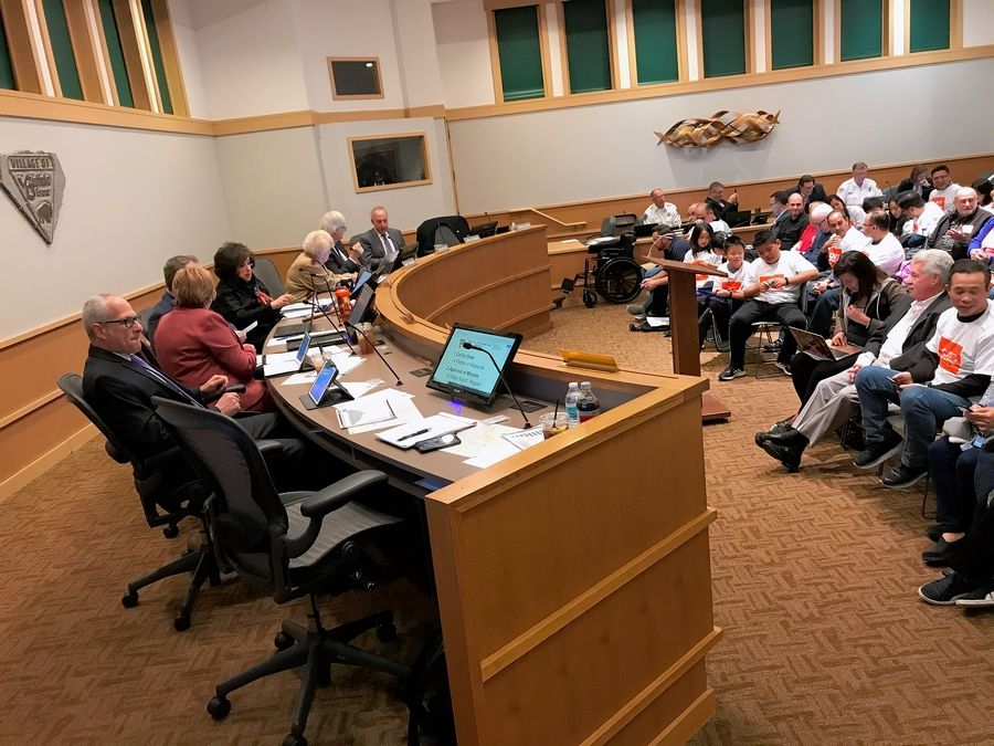 The Buffalo Grove village board heard from residents for hours Monday night before taking a vote about 1 a.m. Tuesday to allow recreational marijuana sales in town.