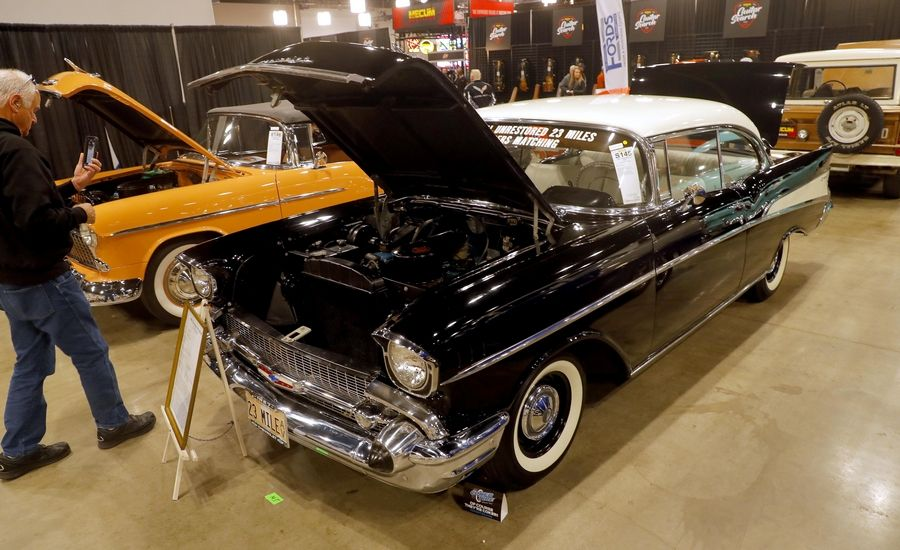 An unrestored 1957 Chevrolet 210 with just 23 miles on the odometer figures to be available during this weekend's Mecum Auction. The three-day show opened Thursday at the Schaumburg Convention Center.