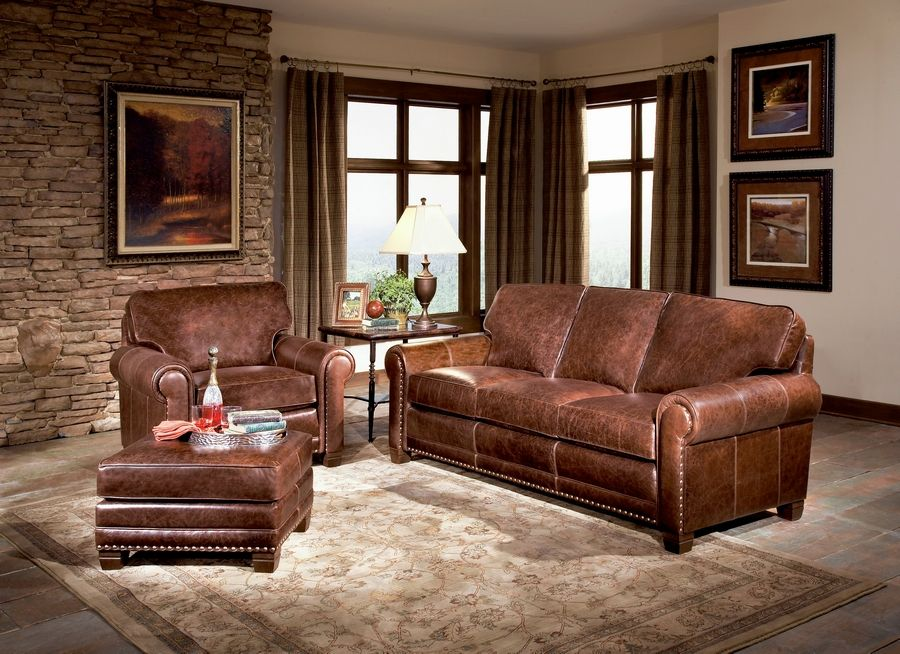 Give your living room a quick refresh with a new leather sofa or chair.