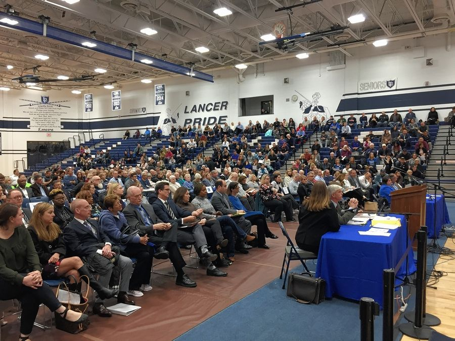 More than 500 Itasca residents attended a Monday night public hearing on Haymarket Center's proposal to open an addiction treatment center in their village.
