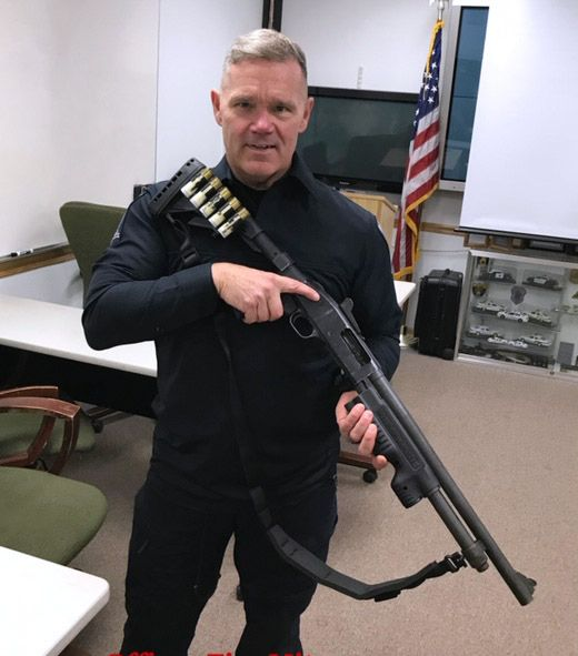Round Lake Park officer Tim Mitsven is an instructor in the use shotguns that fire bean bags, which are being used in specific situations as a less lethal option to regular weapons.