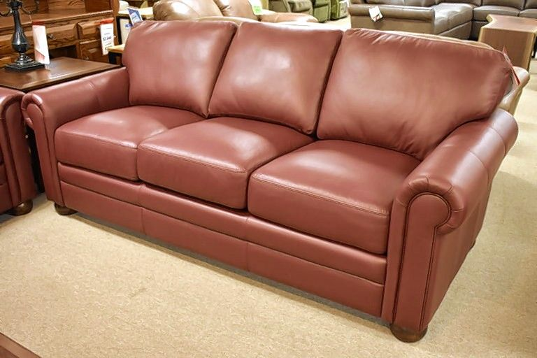 This leather Georgia couch by Omnia would look nice in an updated living room.