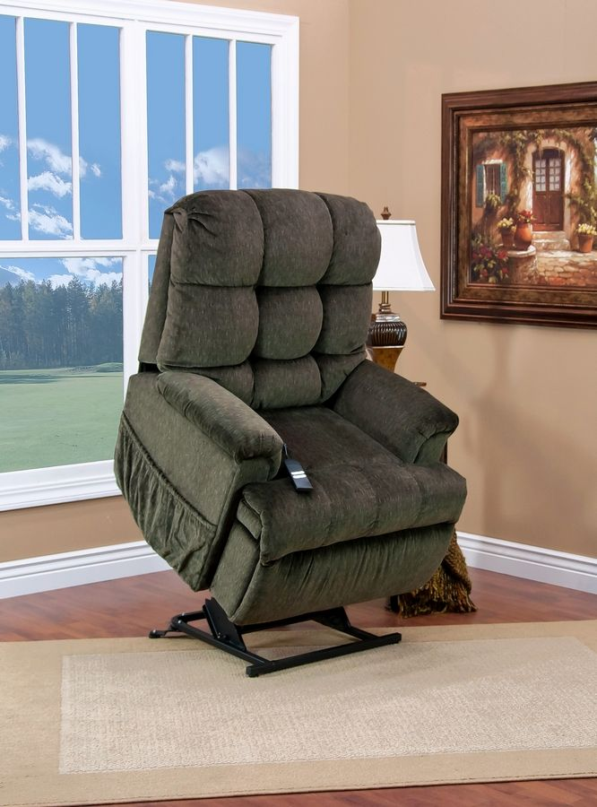 Lift chairs help physically challenged people stand up, and they also fully recline for those who sleep in the chair.
