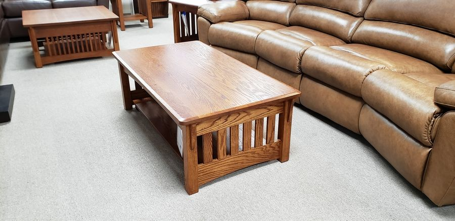 When closed, this coffee table looks like any other.
