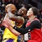 Late Lakers show ends up trouncing Bulls
