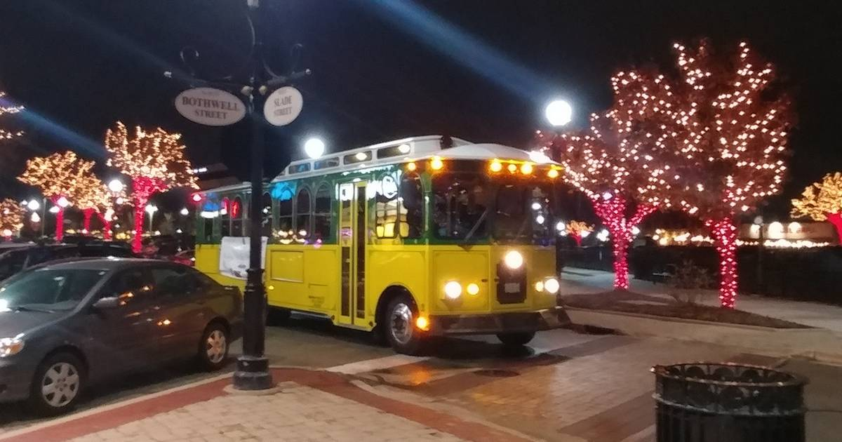 Catch The Trolley At Holidays On The Town In Downtown Palatine