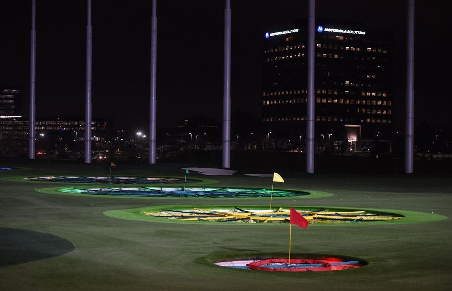 The new Topgolf facility in Schaumburg occupies a portion of the former Motorola Solutions corporate headquarters.