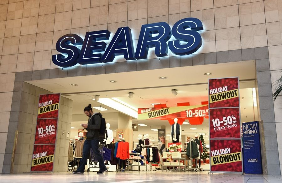 Sears advertises a holiday sale in anticipation of Black Friday at Spring Hill Mall in West Dundee. The store will be closing by February, leaving the mall with only one anchor, Macy's.