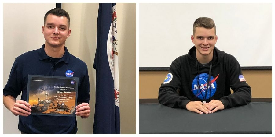 Elgin Community College students Michael, left, and Jackson Wozniak, twin brothers from Carpentersville, were both selected to take part in NASA educational programs as part of its Community College Aerospace Scholars.