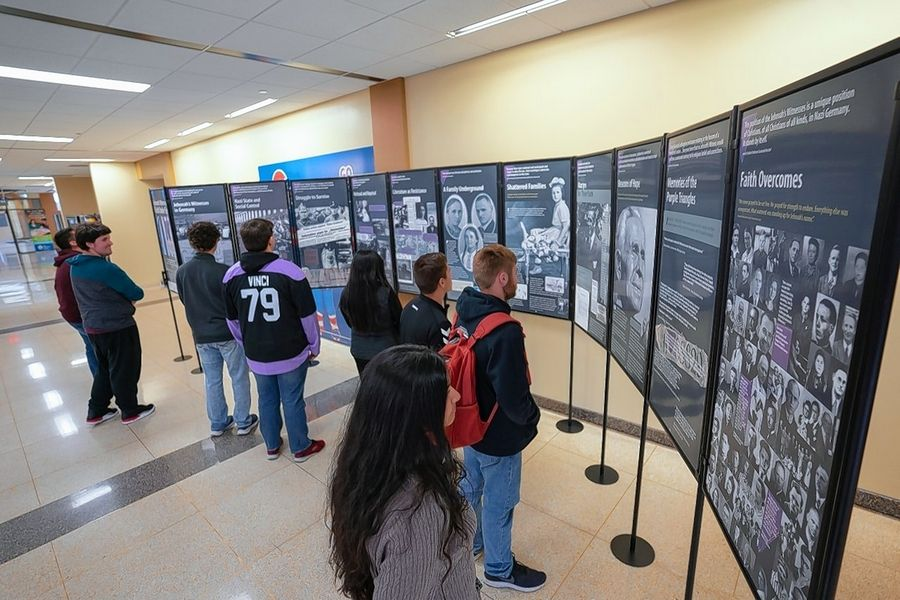 A Holocaust exhibit at Elgin Community College chronicling the struggles of Jehovah's Witnesses under Nazi rule in Europe is open for public viewing during campus hours through Nov. 27.