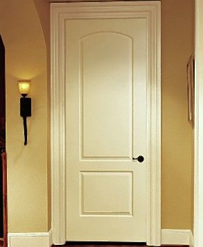 The two-panel Roman interior door is a popular choice for homeowners who are updating.