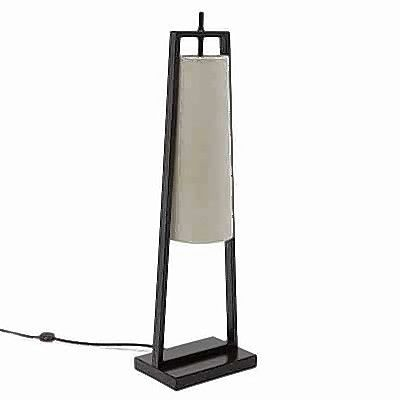 This midcentury modern table lamp follows a popular design theme.