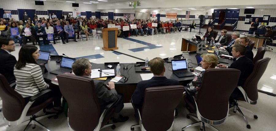 Palatine-Schaumburg High School District 211 board members will hold their Nov. 14 meeting at Fremd High School in Palatine, in anticipation of a larger crowd for their consideration of a controversial policy that would grant transgender students unrestricted access to the locker rooms of the gender they identify as.