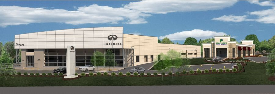 Gregory Infiniti plans to move about a block from its current location and build a new dealership at the southern gateway to the Mile of Cars along Milwaukee Avenue in Libertyville.