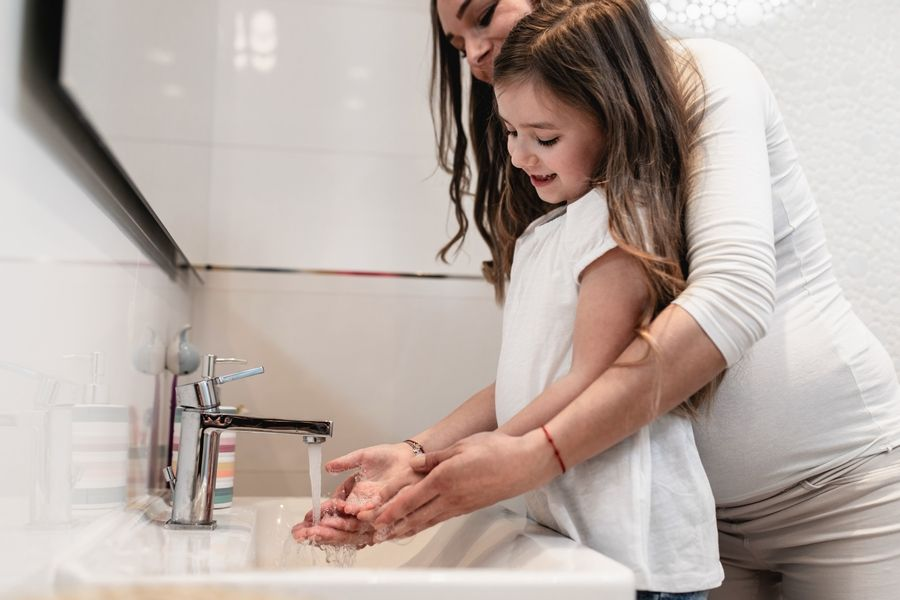 Washing hands frequently helps to guard against illness, during the cold winter season and throughout the year. Adobe