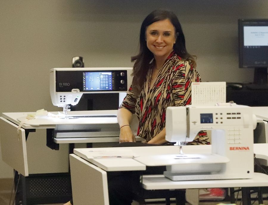 Gayle Schliemann is co-owner of BERNINA of Naperville, a sewing machine store that opened Thursday at 2764 Aurora Ave., suite 100.