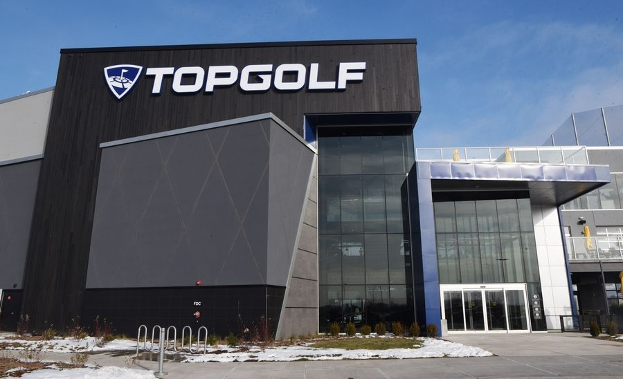 This is an exterior view of Topgolf on the former Motorola corporate campus in Schaumburg Friday.