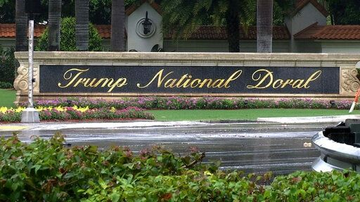 FILE - This June 2, 2017, file frame from video shows the Trump National Doral in Doral, Fla. Newly released email shows President Donald Trump's golf resort near Miami was not among the original sites to be considered to host an international summit next year.