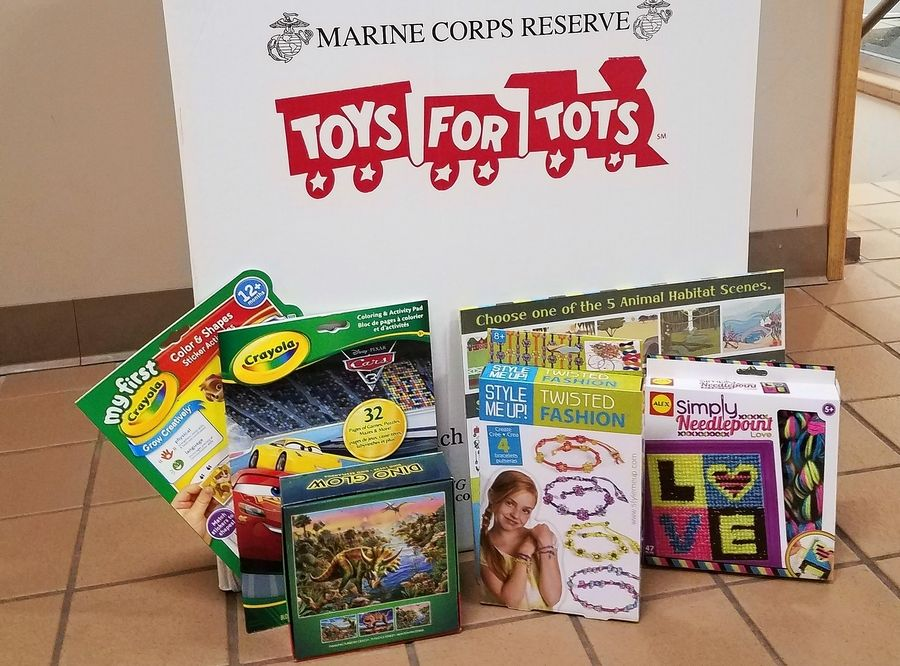 Donations for the DuPage County Toys for Tots may be dropped off in collection boxes at several Naperville Park District locations.