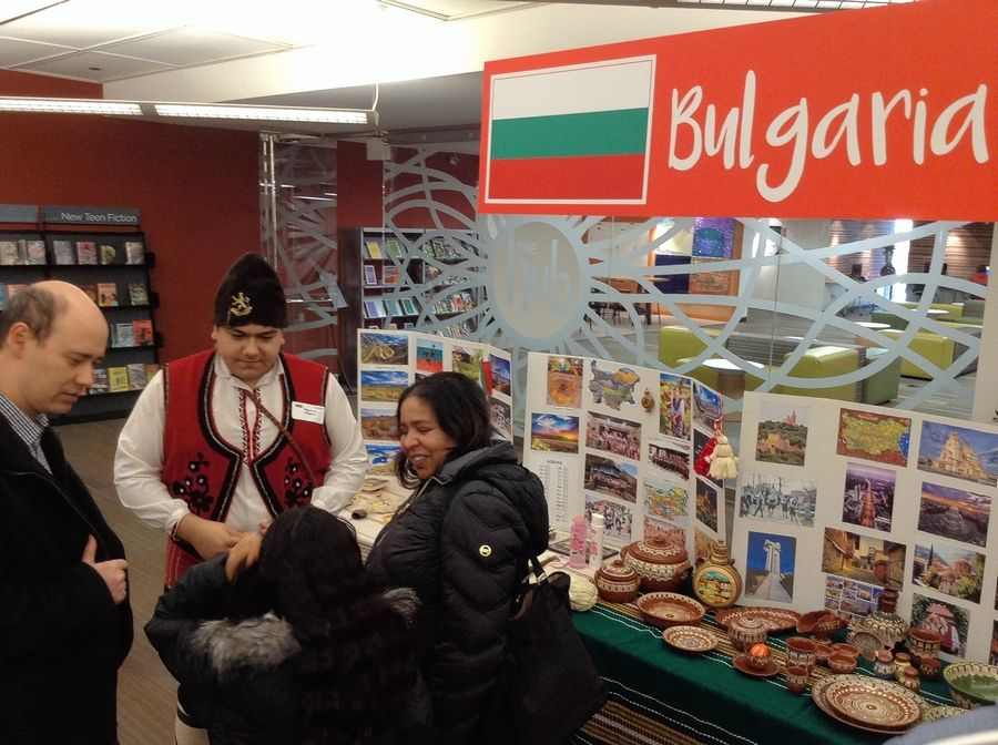 Bulgaria was among 10 countries featured at the Multicultural Fair Saturday at the Arlington Heights Memorial Library.