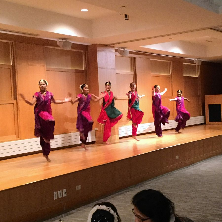 Members of the Mudra Dance Academy perform traditional Indian and Bollywood dances Saturday in the Hendrickson Room of the Arlington Heights Memorial Library.