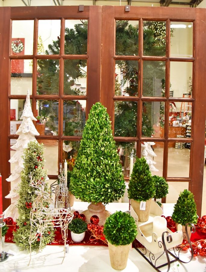 Boxwood decorations are available at Treetime Christmas Creations in Lake Barrington.