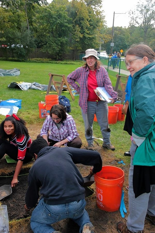 Students at Lake Forest College conduct an archaeological dig at the site of a former African Methodist Episcopal Church on campus. The church operated at the location from 1870 until the 1920s, but there's little mention of it in local historical records.