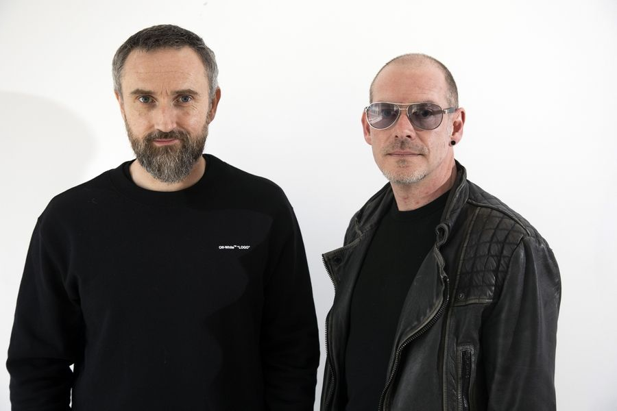 "FILE -- This April 12, 2019 file photo shows musicians Noel Hogan, left, and Fergal Lawler, of the Irish band The Cranberries, posing for a portrait in New York to promote their eighth and final album, ""In the End."" The Cranberries picked up a Grammy nomination for best rock album on Wednesday, Nov. 20, which the remaining members created using unfinished vocals from singer Dolores O'Riordan, who died last year."