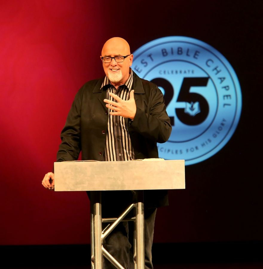 "James MacDonald, seen here in 2013 delivering a sermon at the Harvest Bible Chapel in Elgin, reaped ""significant personal financial benefit"" as senior pastor of the megachurch, according to a law firm's review."