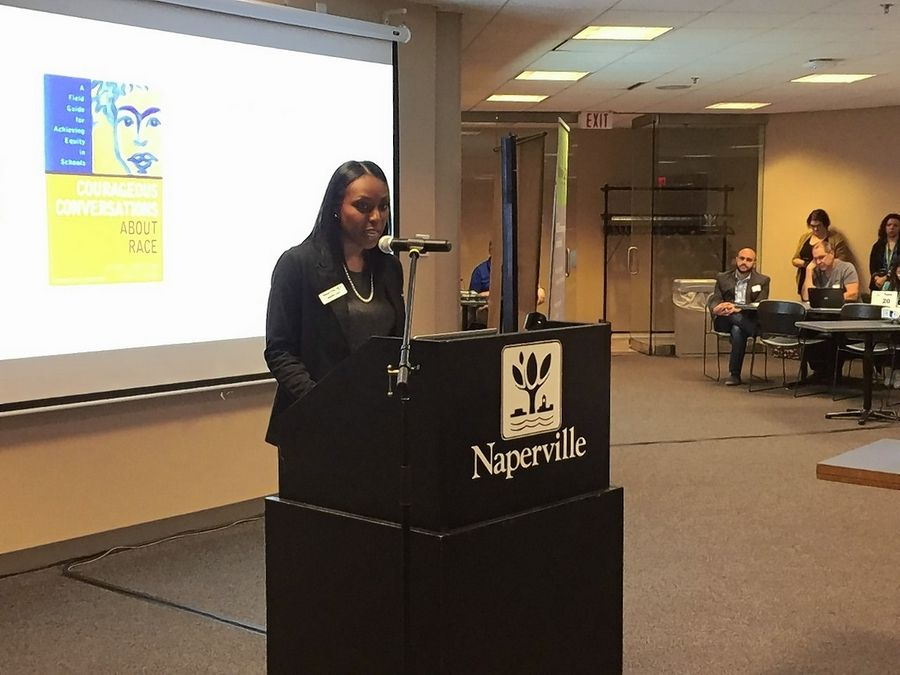 Rakeda Leaks, executive director of diversity and inclusion for Naperville Unit District 203, says middle and high schools in the district have experienced an uptick in use of racial slurs this year, but the district is trying to address the behavior with an increased focus on welcoming and affirming all students.