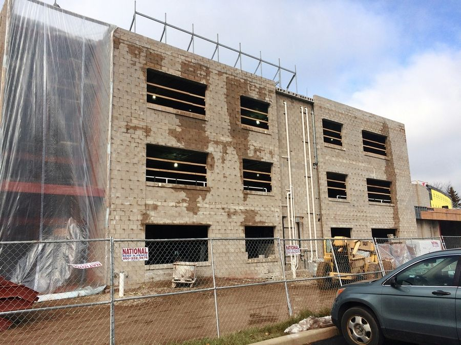 A classroom addition is under construction on the east side of Vernon Hills High School. It's part of a roughly $30.3 million districtwide facility improvement project.
