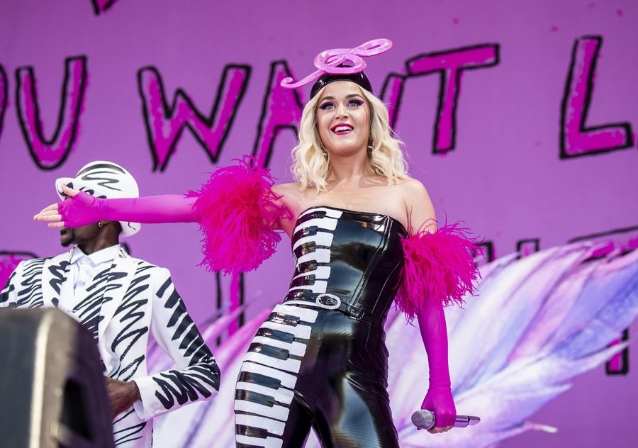Katy Perry headlines the B96 Jingle Bash at the Allstate Arena Saturday, Dec. 7.