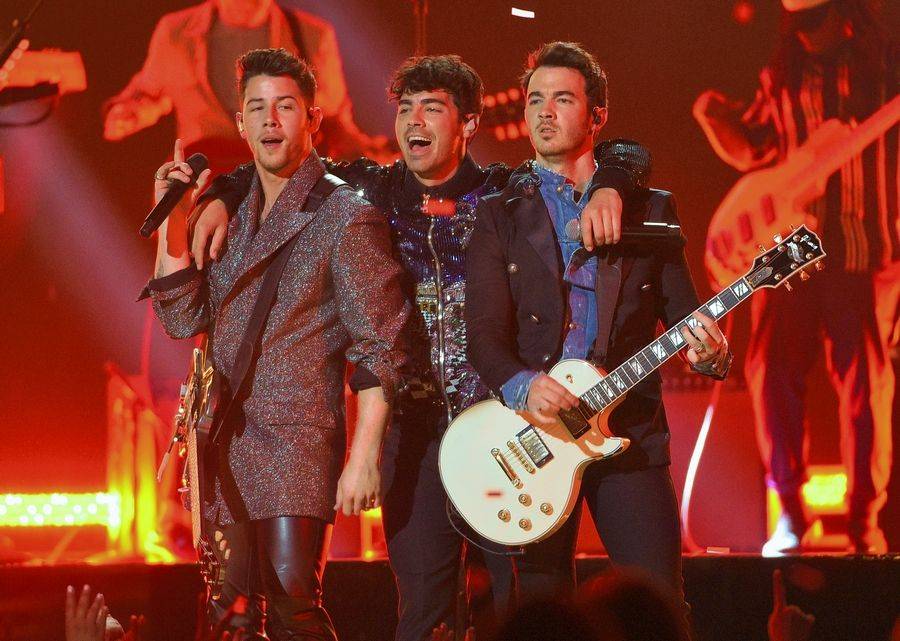 The Jonas Brothers hit the Allstate Arena for the 103.5 Kiss FM's Jingle Ball Wednesday, Dec. 18.