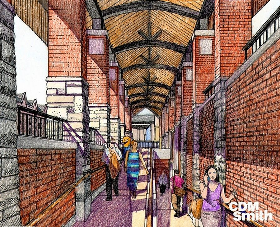 Plans for a new train station in downtown Glen Ellyn also call for an accessible pedestrian underpass, as shown in this rendering.