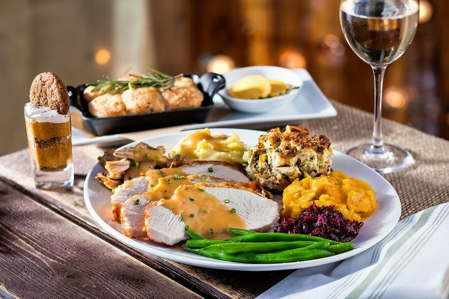 Dine on Thanksgiving favorites such as roasted turkey, mashed potatoes and herb stuffing at Seasons 52.