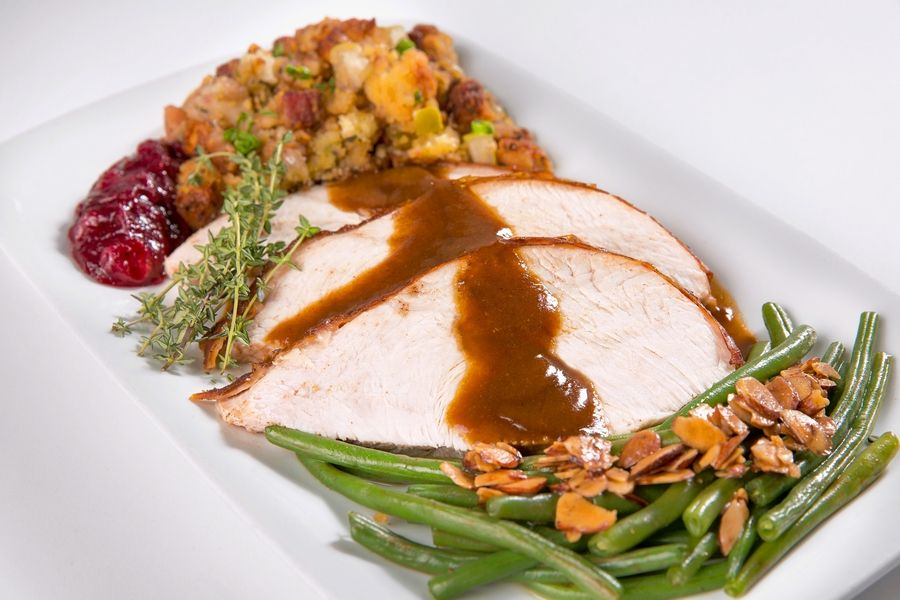 Perry's Steakhouse serves turkey and all the fixings on Thanksgiving.