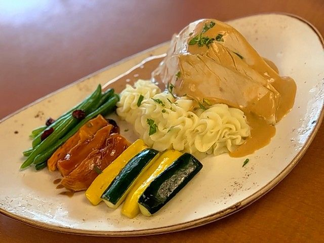 Dine on roasted turkey and other seasonal favorites on Thanksgiving at Allgauer's on the Riverfront in Northbrook.
