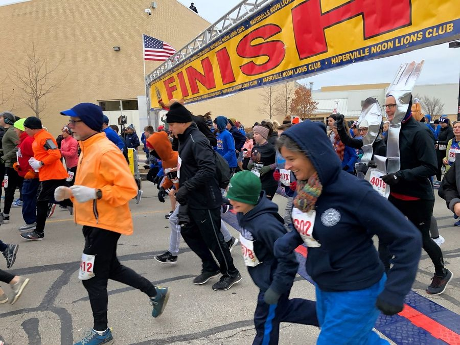 The Turkey Trot is the largest fundraiser for the Naperville Noon Lions Club.