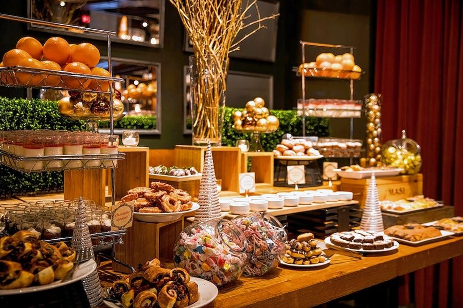 Saranello's hosts a grand buffet for its holiday brunches with Santa.