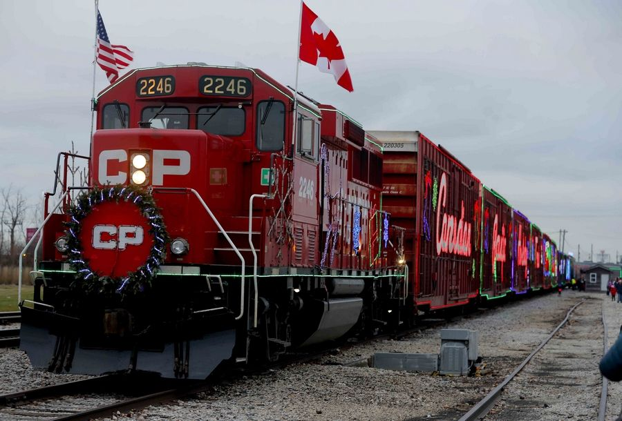 For the second year, Bensenville was visited Monday by the Canadian Pacific Rail Holiday Train. The train will continue north through Wisconsin and into Canada, collecting donations for food pantries at each stop.
