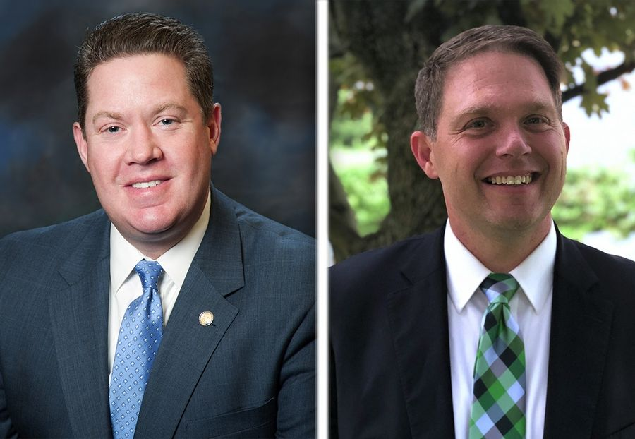 Incumbent Republican Michael Nerheim, left, and Democrat Eric Rinehart, are running for Lake County state's attorney in the 2020 election.