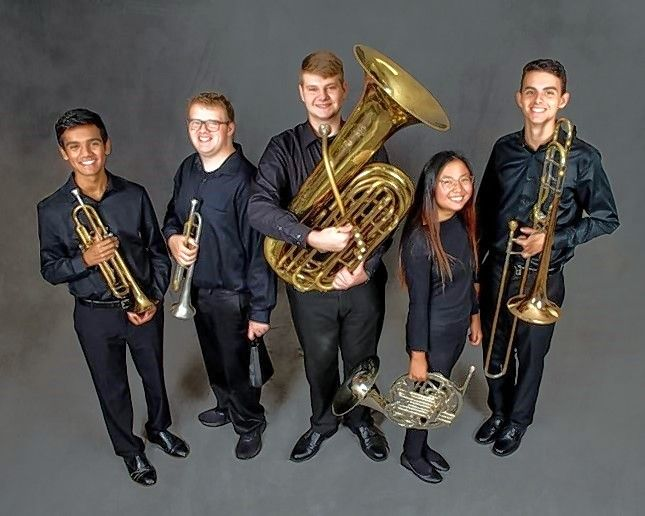 On Sunday, Dec. 15, enjoy holiday music with the Elgin Youth Symphony Orchestra's Sterling Brass Quintet, with Jackson Baker and Avanish Narumanchi on trumpet; Acacia Steenberg, horn; Garrett Rider, trombone; and J.T. Butcher, tuba.