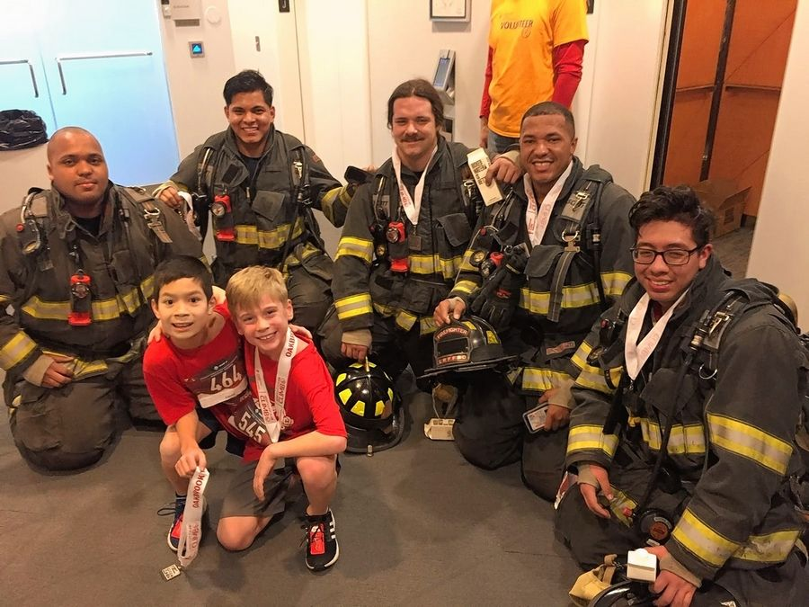 A group of firefighters join in a previous Fight for Air Climb. The next fundraising event for the American Lung Association will be Feb. 8.