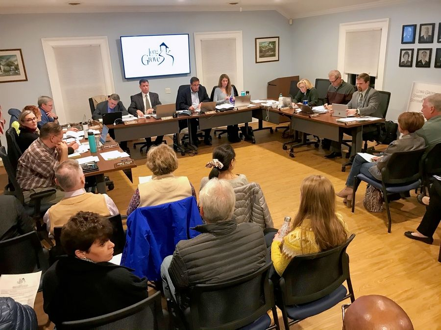 Several Long Grove residents attended a recent village board meeting concerned about drivers using local streets to avoid the intersection of Lake-Cook Road and Arlington Heights Road.