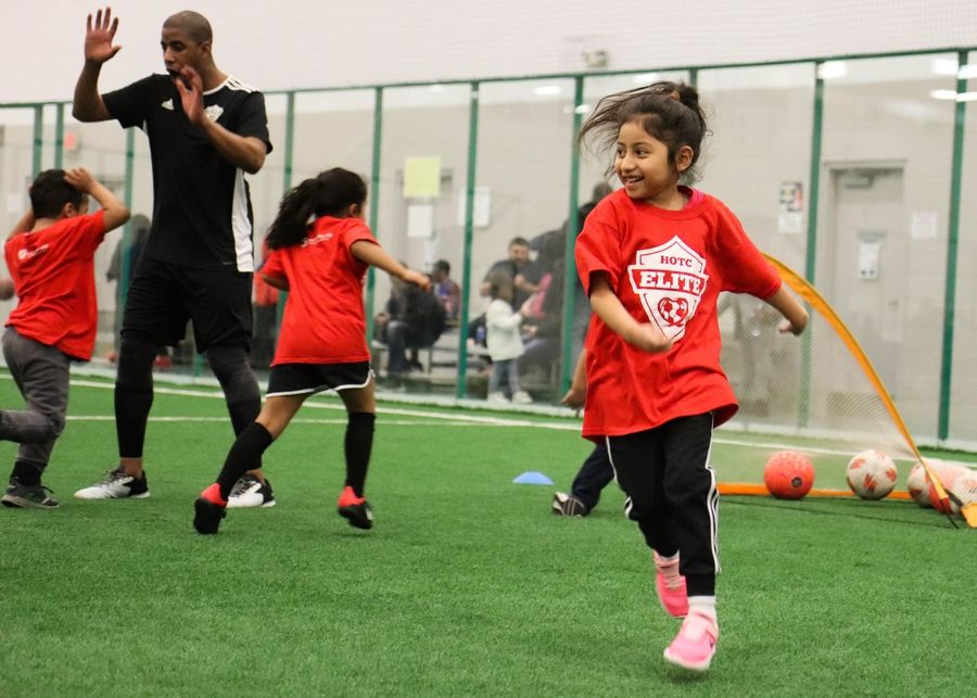 Heart of the City participant plays during last year's Winter Soccer Academy.Leah Perri
