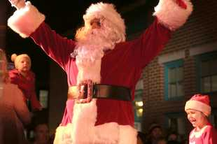 Youngsters will thrill to the arrival of Santa during the Geneva Christmas Walk Friday evening in downtown.