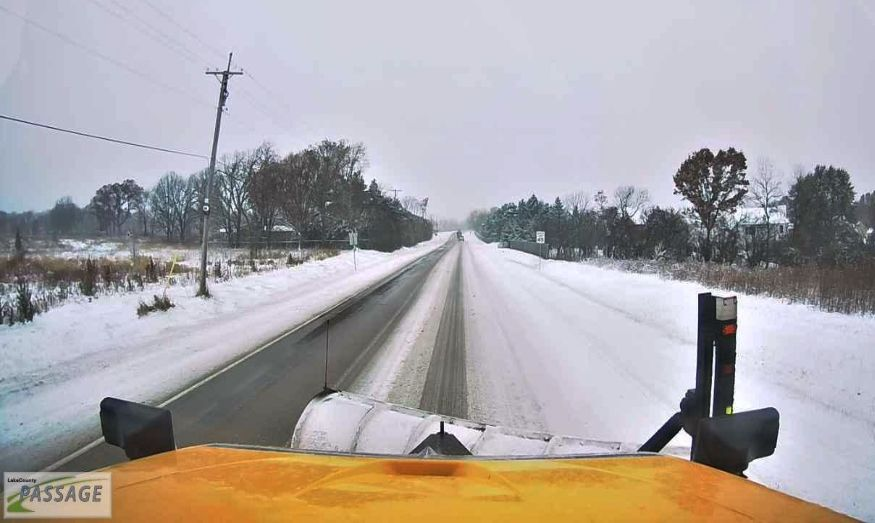 A snowplow driver's view of the road is among the new features introduced this season by the Lake County Division of Transportation to allow motorists to check the progress of snow and ice removal on all 26 of its routes.