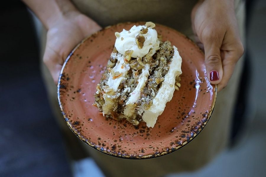 Carrot cake is one dessert option at Lazy Dog Restaurant & Bar, which is scheduled to open in February in Naperville.