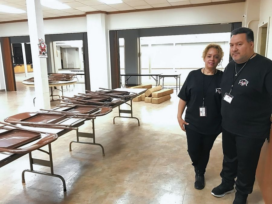 Lucy and Pedro Gomez operate House of Restoration, which runs the emergency winter shelter in the basement of First United Methodist Church in Elgin.