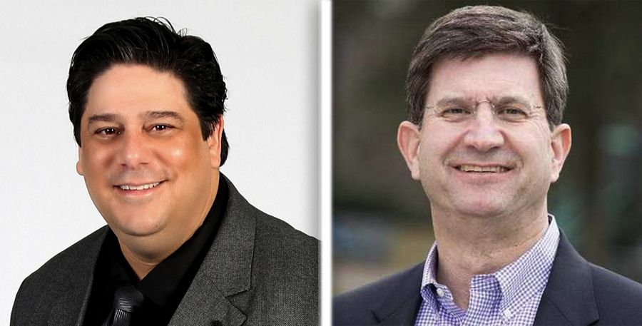Adam Broad, left, and Brad Schneider are the Democrats running for the 10th Congressional District seat in 2020.